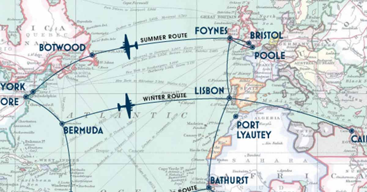 Flying Boat Transatlantic Flight Paths